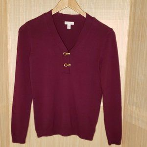 Charter Club V Neck Sweater Small